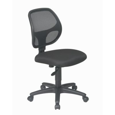 Mesh Screen Back Task Chair with Fabric Seat in Black - EM2910