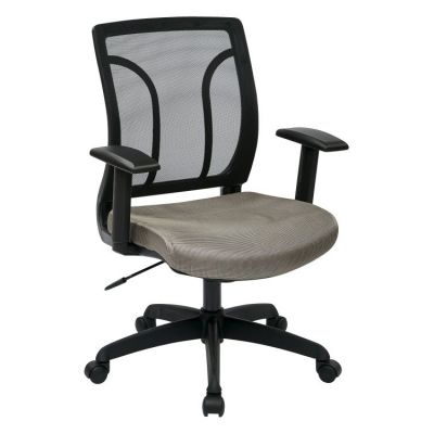 Screen Back Chair with Mesh Seat in Grey - EM50727-2