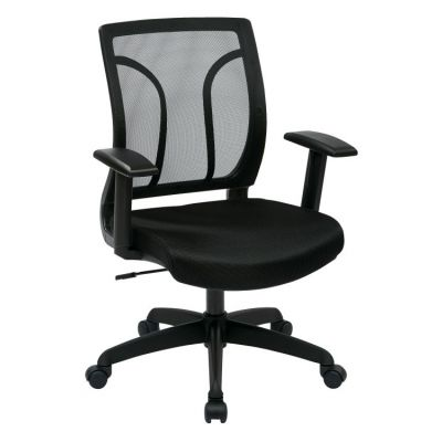 Screen Back Chair with Mesh Seat in Black - EM50727-3