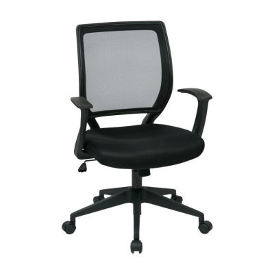 Screen Back Task Chair with ''T'' Arms in Black - EM51022N-3