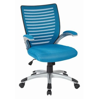 Mesh Seat and Screen Back Managers Chair in Blue - EMH69096-7