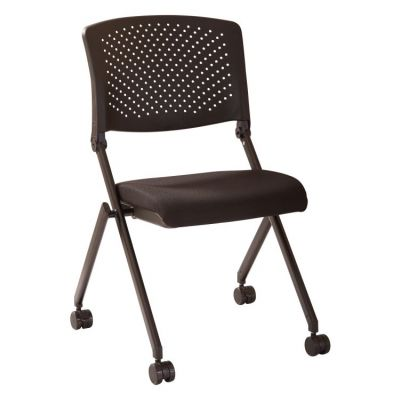 Black Plastic Nesting Chair 2-Pack in Black - FC8423-231