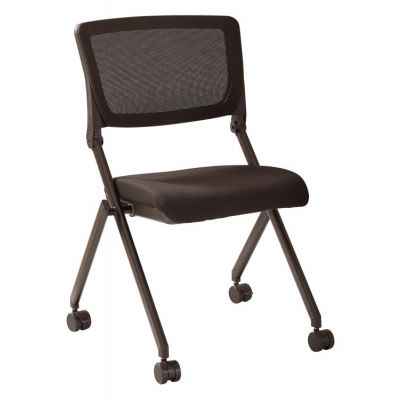 Nesting Chair in Black Mesh 2-Pack in Black - FC8433-231