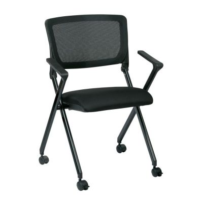 Folding Chair with breathable Mesh Back in Black - FC8483-231