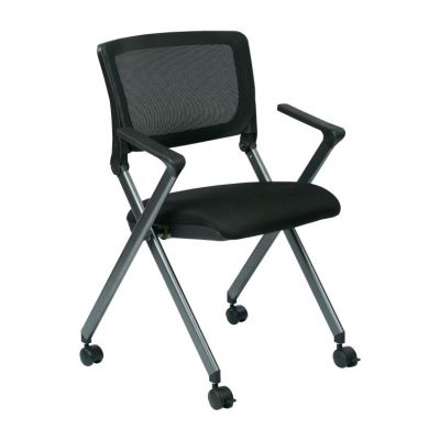 Folding Chair with Screen Back in Black - FC8487-231