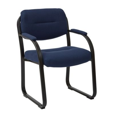 Deluxe Visitors Chair with Sled Base in Indigo - FL1055-W17