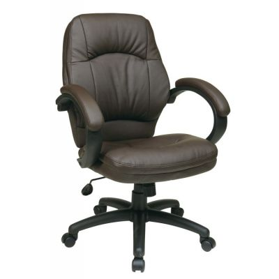 Deluxe Chocolate Faux Leather Managers Chair in Chocolate - FL605-U2