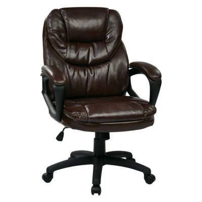 Faux Leather Managers Chair in Chocolate - FL660-U2