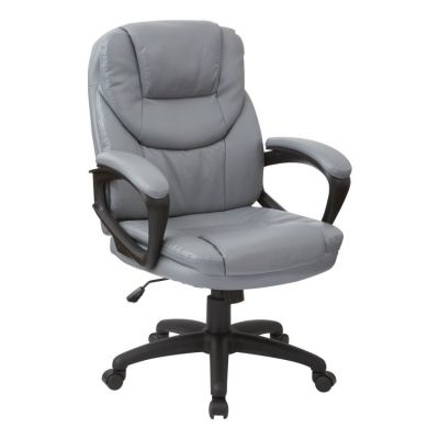 Faux Leather Managers Chair in Charcoal - FL660-U42
