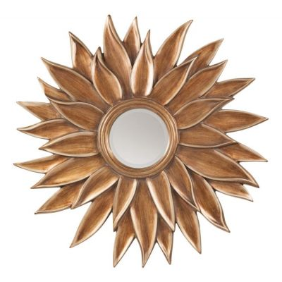 Orleans Beveled Sun Flower Wall Mirror in Gold - GC5116
