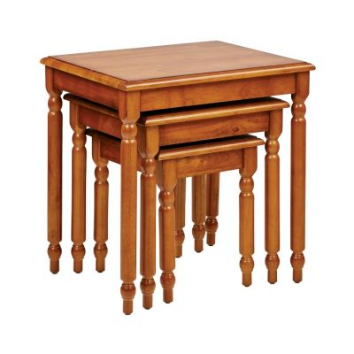 Knob Hill 3pc Nesting Table Set in Antique Cherry Finish - KH19