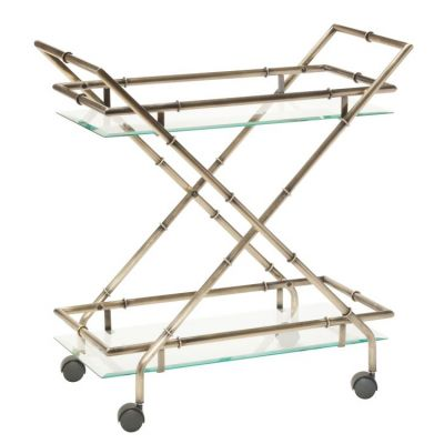 Lanai Serving Cart in Antique Brass - LANA4172-AB