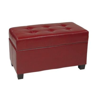 Storage Ottoman in Crimson Red - MET804RD