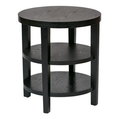 Merge 20'' Round End Table in Black - MRG09-BK