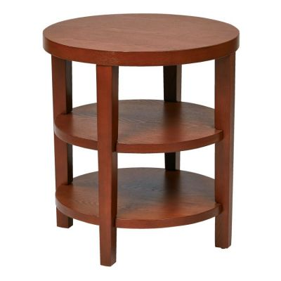 Merge 20'' Round End Table in Cherry Veneer (-CHY) - MRG09-CHY