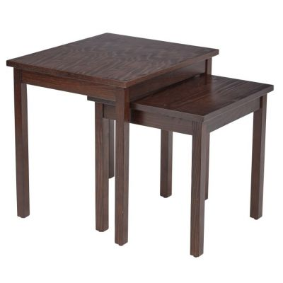 Main Street Nesting End Tables in Espresso - MST19