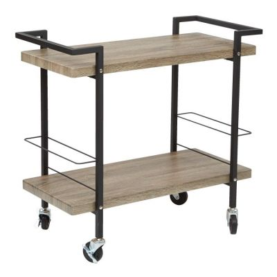 Maxwell Serving Cart in Ash Veneer Finish - MXW3731-AH