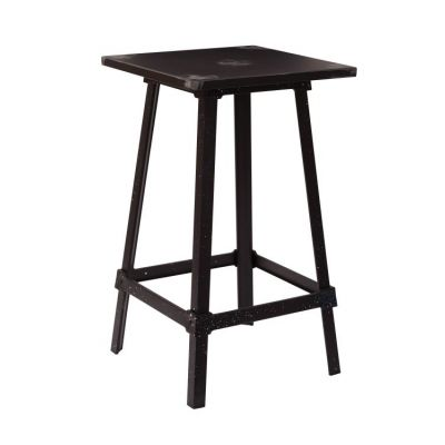 Olympia Metal Bar Table in Antique Black - OLY424-AB