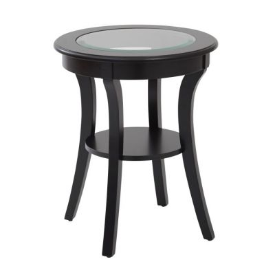 Harper Round Accent Table in Brushed Black - OP-HRAS1-AC11