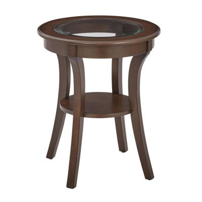 Harper Round Accent Table in Macchiato - OP-HRAS1-YM7