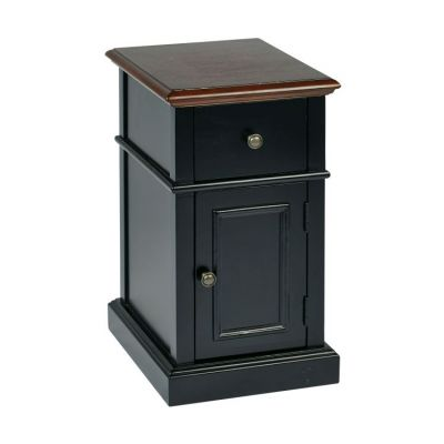 Oxford Side Table in Black Two Tone - OXF08AS-BK