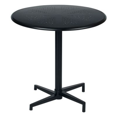 Oxton 30'' Round Folding Table in Matte Black - OXT43211-C230