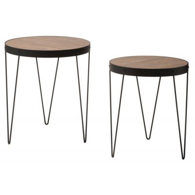 Pasadena Nesting Accent Tables in Calico & Matte Black - PASA7920-SBC