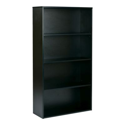 Prado 60'' 4-Shelf Bookcase in Black - PRD3260-BLK