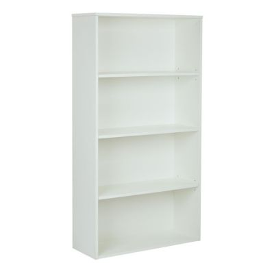 Prado 60'' 4-Shelf Bookcase in White - PRD3260-WH