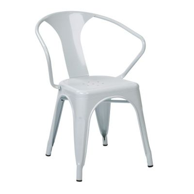 30'' Metal Chair in White - PTR2830A2-11