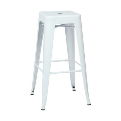 30'' Steel Backless Barstool in White - PTR3030A2-11