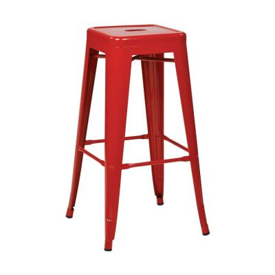 30'' Steel Backless Barstool in Red - PTR3030A2-9
