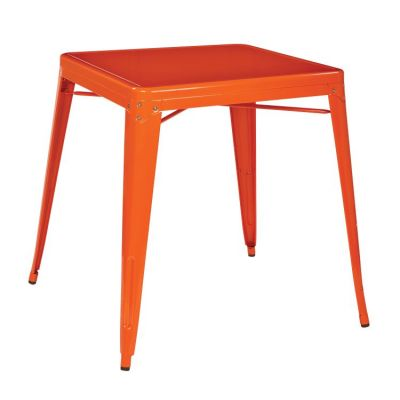 Patterson Metal Table in Orange - PTR432-18