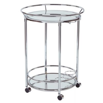 Royse Serving Cart in Chrome Finish - RYS37-CHR
