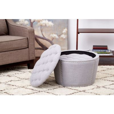 Lacey Tufted Storage Set in Milford Dove - SB239-M24