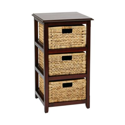Seabrook Three-Tier Storage Unit in Espresso - SBK4513A-ES