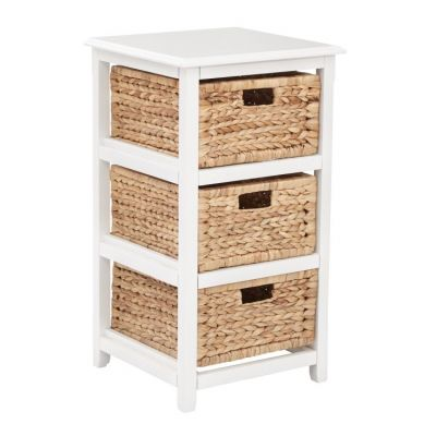 Seabrook Three-Tier Storage Unit in White - SBK4513A-WH