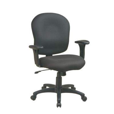 Task Chair with Saddle Seat in Black - SC66-231
