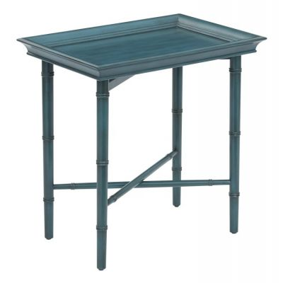 Salem Folding Serving Tray in Blue - SLM37-BL