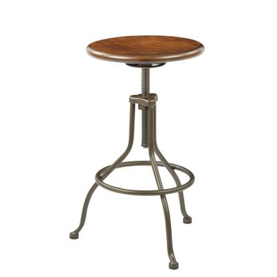 Sullivan Swivel Stool in Pewter&Walnut - SLVNS343-PTWA