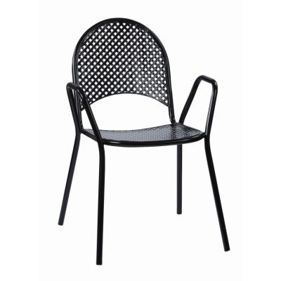 Steel Stacking Chairs in Black - STC18A2-3