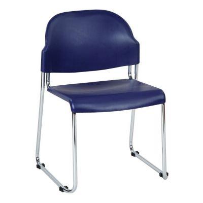 Stack Chair with Plastic Seat and Back in Blue - STC3230-7