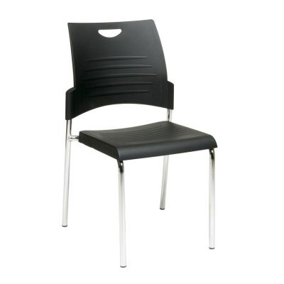 Straight Leg Stack Chair in Black - STC8300C2-3