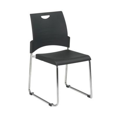 Straight Leg Stack Chair in Black - STC8302C2-3
