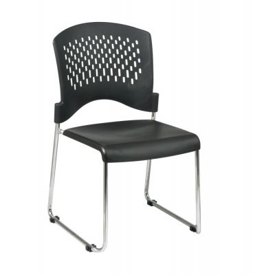 Sled Base Stack Chair in Black - STC865C2-3