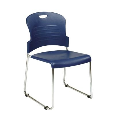 Stack Chair with Sled Base in Navy - STC866C2-7