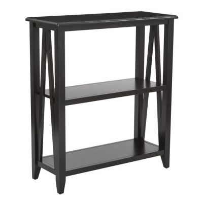 Santa Cruz 3-Shelf Book Case in Black - STCZ27-BK