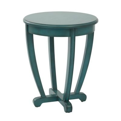 Tifton Round Accent Table in Blue - TFN17AS-BL