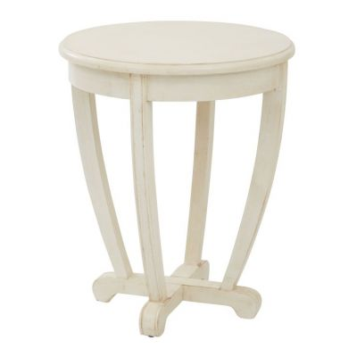 Tifton Round Accent Table in Cream - TFN17AS-CM