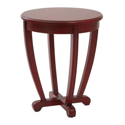 Tifton Round Accent Table in Red - TFN17AS-RD